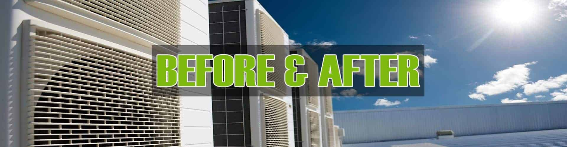 Before and After Elgin Sheet Metal Company Cooling HVAC Heating